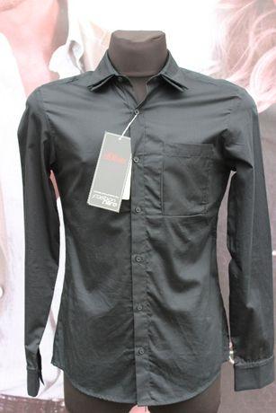 Мужская рубашка s.Oliver черного цвета (размер XS)