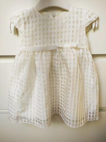 Komplet do Chrztu. Sukienka, buciki, sweterek, czapeczka. 3-6 miesięcy