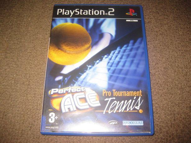 "Jogo ""Perfect Ace- Pro Tournament Tennis"" PS2/Completo!"