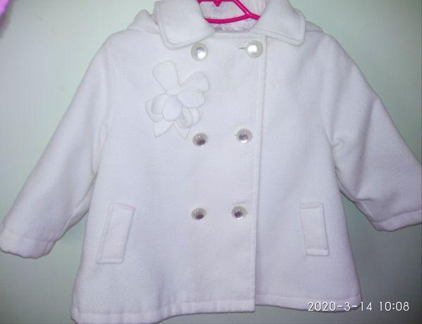 Пальто как НОВОЕ белое плащ деми білий демисезонную куртка курточка