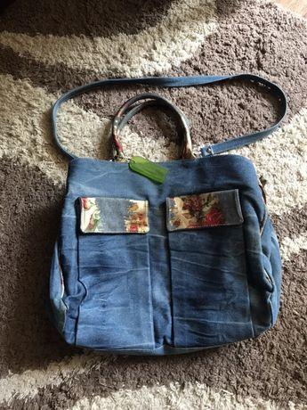 Большая джинсовая сумка шопер-Италия