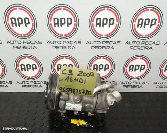 Compressor ar condicionado PSA 1.6 HDI , Citroen C3 referência 9659875780.