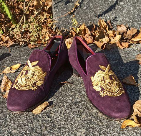 Мужские туфли Billionaire loafers crest loro piana brunello gucci