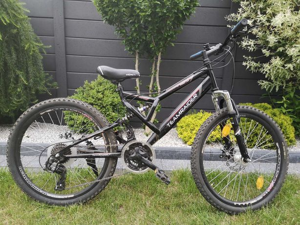 Rower górski Teamraider koła 24cale, hamulce tarczowe, Shimano