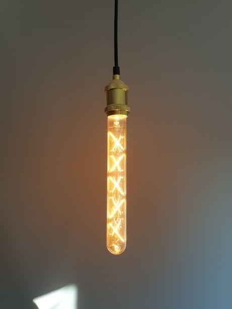 Lampa Wisząca Złota z Żarówką LOFT Vintage