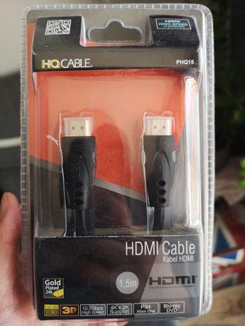 Kabel przewód HDMI pozłacany 1,5 metra NOWY