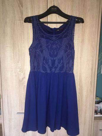 Granatowa sukienka