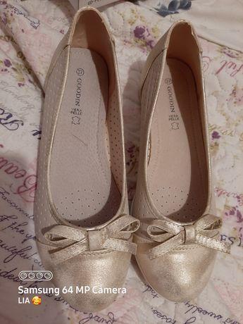 Baletki balerinki buty złote