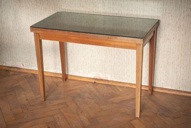 Stolik mały rozkładany 86cm x 43cm ( 86x86 cm ) - RETRO