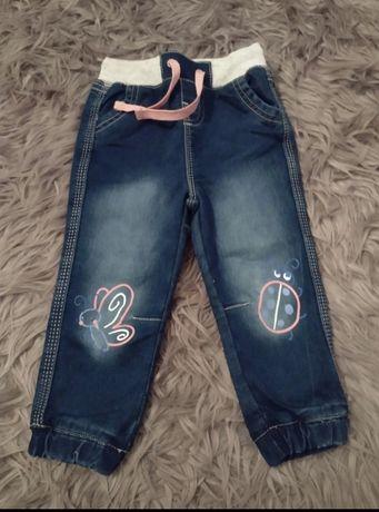 Nowe spodnie jeansowe. Rozmiar 86