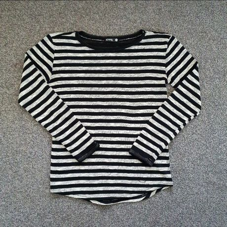 Bluzka dzianinowa cienki sweterek Sinsay xs 34 s 36 paski