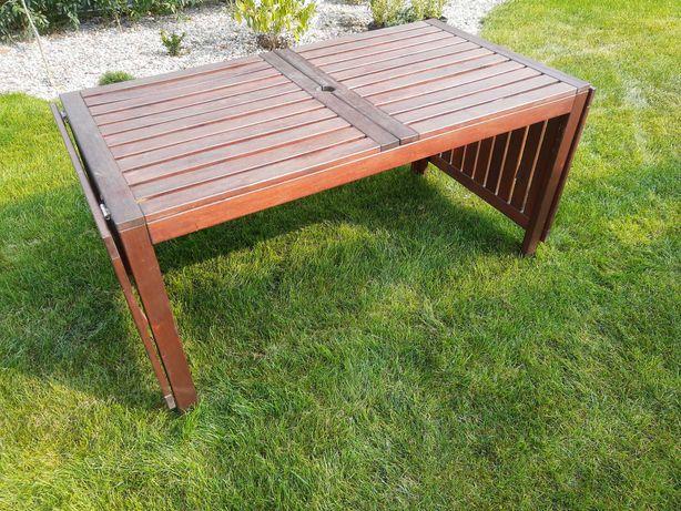 Komplet Applaro stół + 4 krzesła + poduszki (Ikea), stan dobry