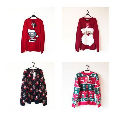 Świąteczny sweter nowy z metką prezent oversize renifer Rick i Morty