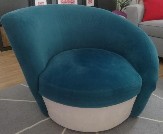 Fotel, fotel morski, muszla, zielony