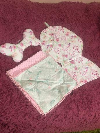 Набор для малышей плед, сидение , подушка