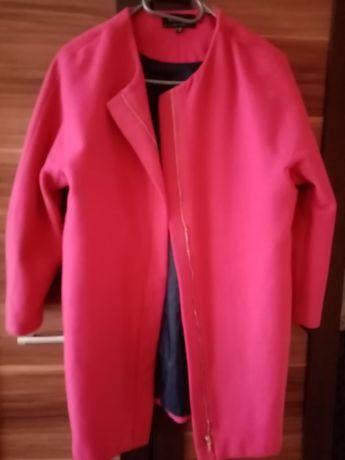 Płaszcz Reserved 34 fuksja jesienny