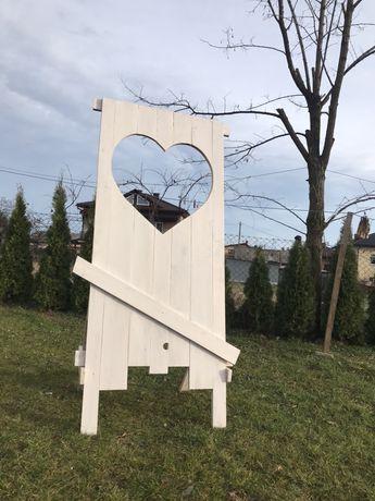 Fotobudka weselna serce