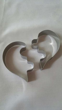 Moldes para bolachas coração e forma de ovo estrelado