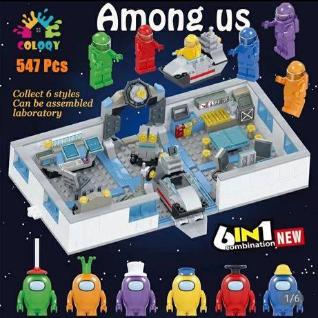 Laboratorium Among Us - klocki figurki