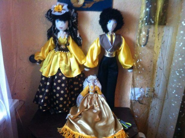 Уникальные авторские интерьерные текстильные куклы
