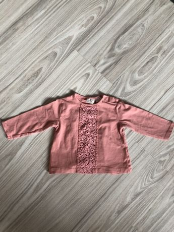 Koszulka bluzka Zara koronka