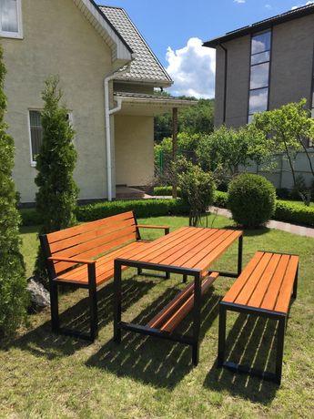 Комплект садовой мебели стол лавочка