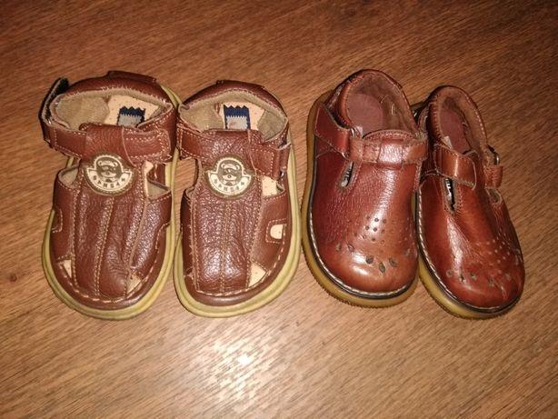 Босоножки кожаные тапочки 23 размер на мальчика