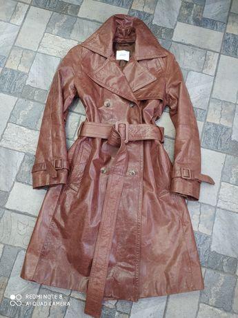 Шкіряний тренч Joop (Італія),пальто кожа 100%