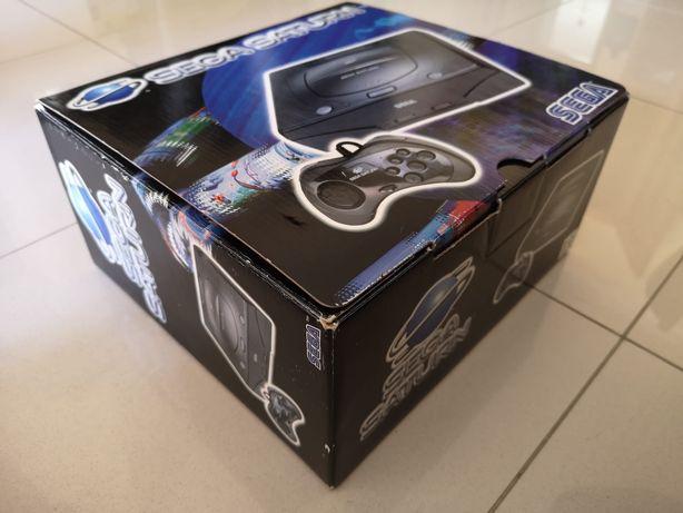 Sega saturn (com caixa) +3 jogos + televisão de oferta