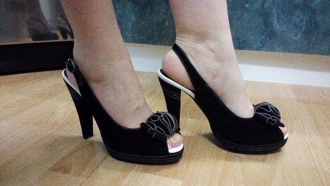 Босоніжки жіночі (38 р., каблук: 12 см)