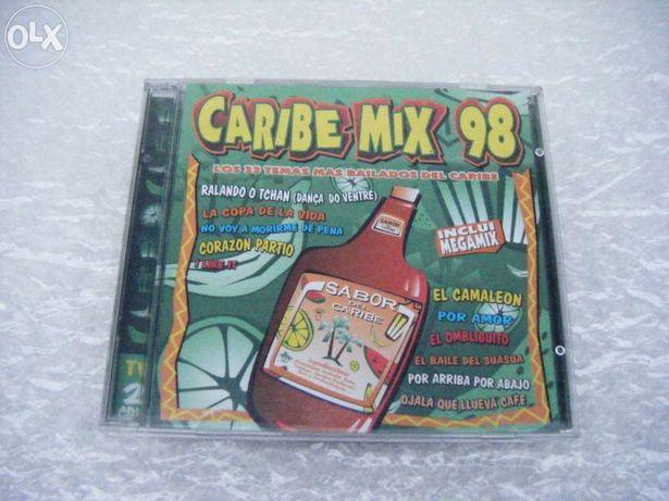 CD Caribe Mix 98 (duplo) (1998) - Em bom estado