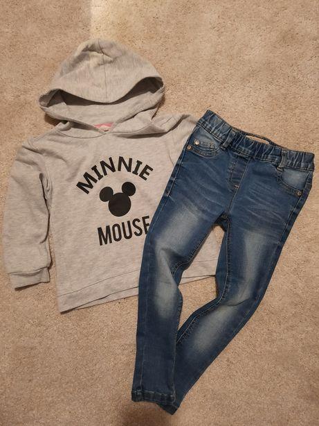 Bluza H&M + dżinsy Next r.110