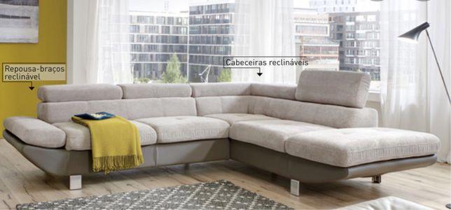 Sofa chaise longe em L