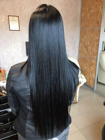 Модель на кератин и ботокс для волос