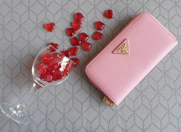 Portfel różowy nowy