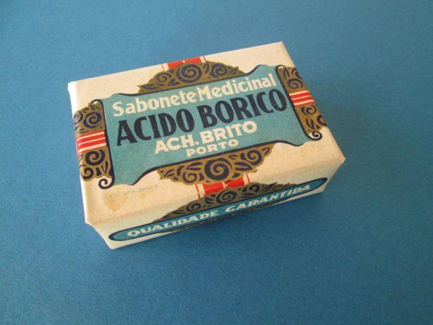 Raro Sabonete Medicinal Ach Brito Acido Borico Antigo