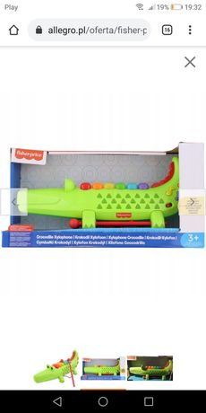 Fisher Price krokodyl interaktywny cymbałki Nowy