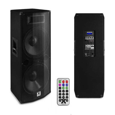 Coluna Amplificada 2x 15″ 1600W -USB / SD/ Bluetooth – VONYX