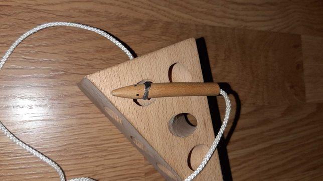 Головоломка деревянная сыр и мышь
