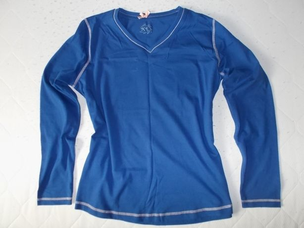 XL 42 44 Nowa koszula niebieska piżamy z długim rękawem
