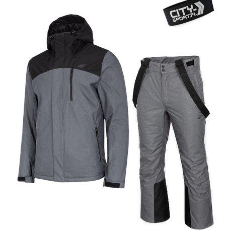 MĘSKI Kombinezon narciarski 4F GRAFITOWY kurtka KUMN002 + spodnie 5tyś