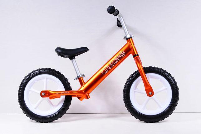 """Rowerek biegowy CRUZEE 12"""" Pomarańczowy"""