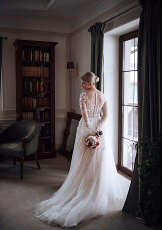 Свадебное платье коллекции 2020 цвет айвори (шампань)