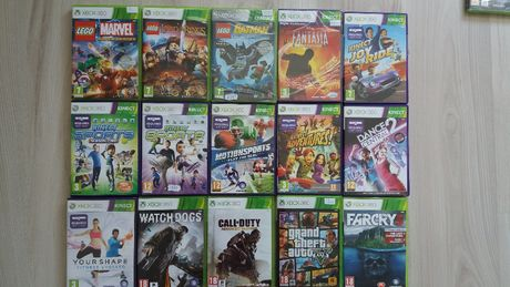 kinect sportMost wanted,rivals,dance central 1,2,3, lego marvelWysylam