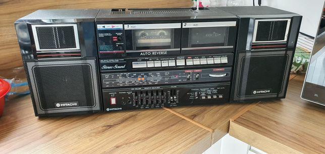 HITACHI Radio magnetofon wieża stereo sound