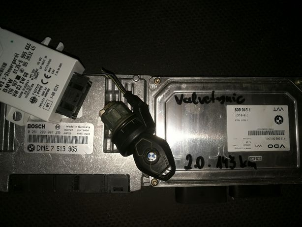 Sterowniki silnika+ kluczyk z wkład.stac+imobilajzer BMW E46 2.0 143KM