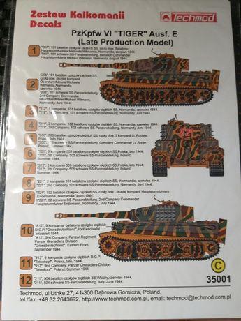 декали на сборную модель танка