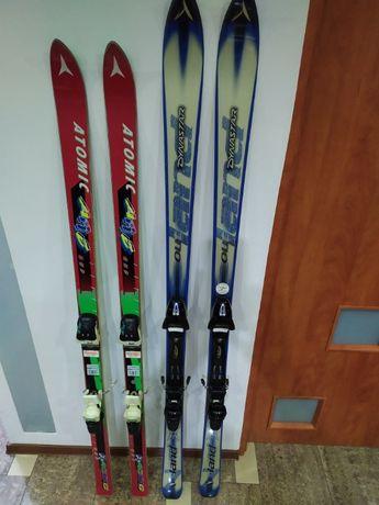 Narty raz użyte byty narciarskie Salomooon Atomik Dynastar