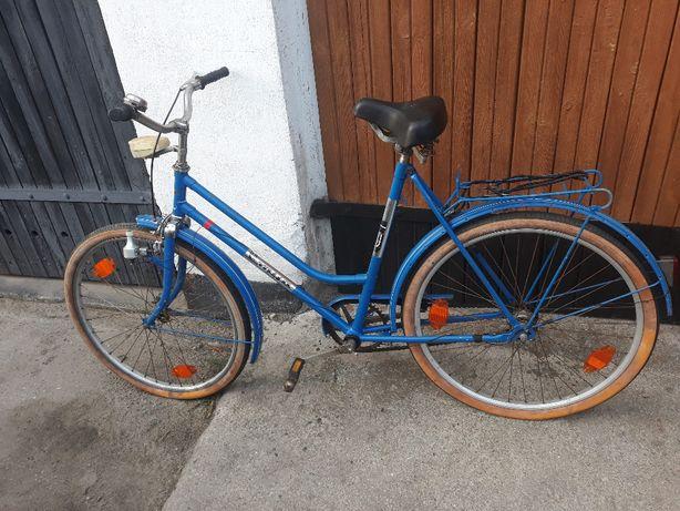 """Stylowy damski rower retro, niebieski rower miejski 26"""", okazja!"""
