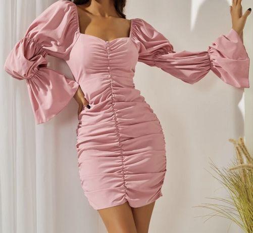 Rozowa sukienka S